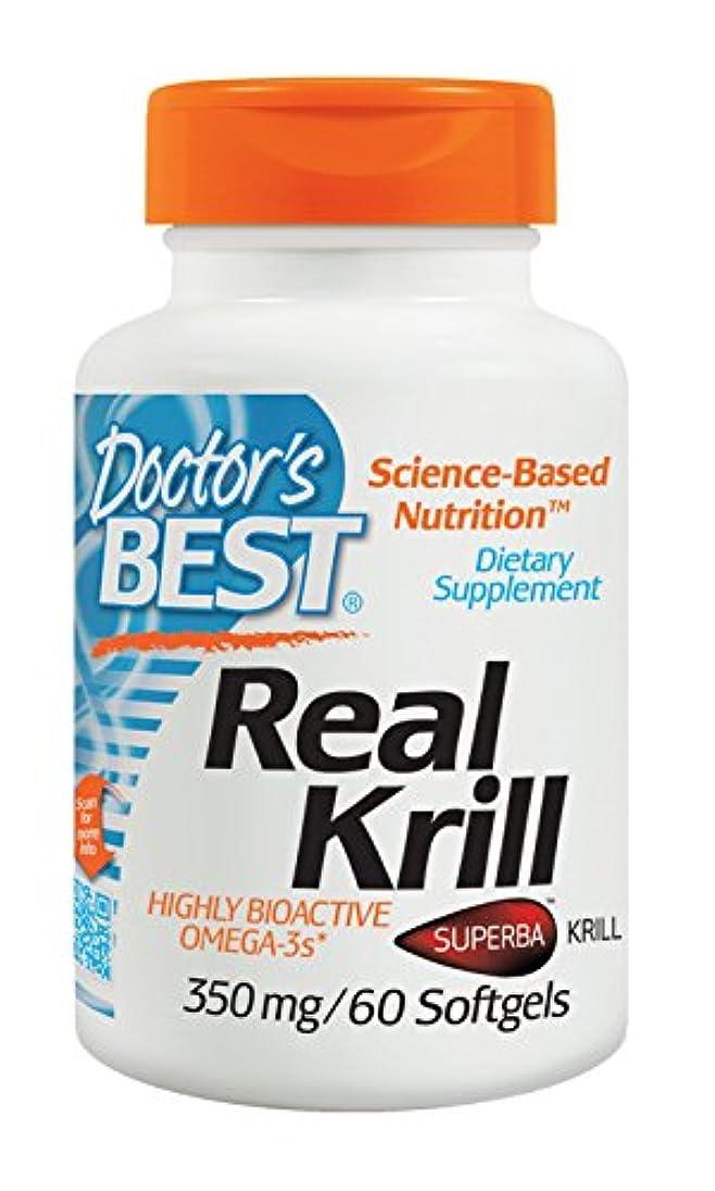 マニュアル実証する豚肉海外直送品 Doctors Best Real Krill, 60 sofgels