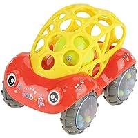 車 おもちゃ 知育玩具 作業車 模型 組み立て おもちゃ 男の子の玩具 カラフル 知育おもちゃ 早期開発 子供へプレゼント クリスマスギフト 子供の日 誕生日祝い(赤)