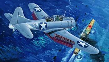 """1/32 米海軍 SBD-3 ドーントレス """"ミッドウェイ海戦"""""""