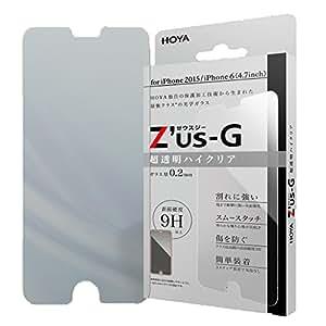 HOYA Z'us-G ゼウスジー for iPhone6s ハイクリア ガラスフィルム 【0.2mm】 【全面強化】 【アルミノシリケートガラス】 耐衝撃 表面硬度9H 指紋・汚れ防止コート 気泡レス 液晶保護