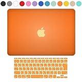MS factory MacBook Air 11 ケース + 日本語 キーボード カバー ハードケース 全14色カバー RMC series マックブック エア 11.6 インチ Early 2015 対応 マット加工 オレンジ RMC-SETA11MOR