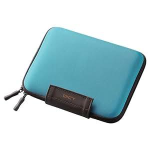 ELECOM 電子辞書ケース 2タイプ開閉方式 イヤホン・タッチペン・SDカード収納ポケット付 ブルー DJC-024BU