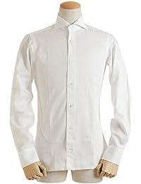 BARBA バルバ Dandy Life メンズ ブロード ワイシャツ コットン ワイドカラーLIU736516501U WH