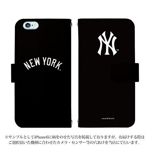 iPhone7 Plus 手帳型 ケース [デザイン:01.NY(黒)] ニューヨークヤンキース その他ケース スマホ スマートフォンカバー