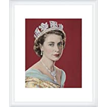 ポスター ドロシー ウィルディング Queen Elizabeth II 額装品 ウッドハイグレードフレーム(ホワイト)