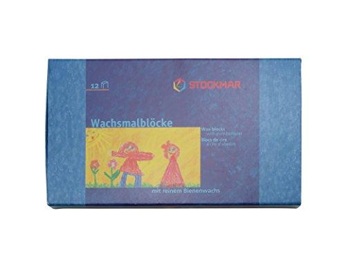 [해외](스톡 마크) STOCKMAR 밀랍 크레용 12 색 세트 종이 상자/(Stockmar) STOCKMAR beeswax crayon 12 color set paper box