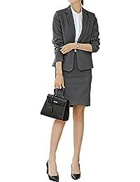 セットースーツ レディース スカート パンツ グレー フォーマル 大きいサイズ リクルート 通勤 無地 カジュアル 高品質 万能スーツ