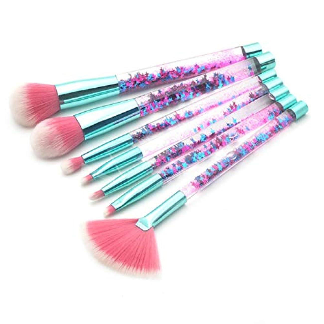 ベリー外向き乳製品LSHJP 化粧ブラシ 7個セット 化粧道具 レディース ビューティー きれいめ 簡単 カジュアル 便利 お出かけ 高品質 (Color : BlueGreen, Size : ワンサイズ)