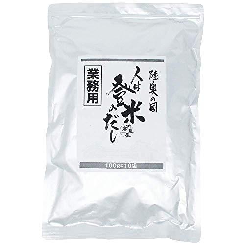 日高見屋 人は登米のだし 【業務用】万能和風だしの素 だしパック 100g×10袋 三陸産真昆布・原木椎茸使用 粉末出汁