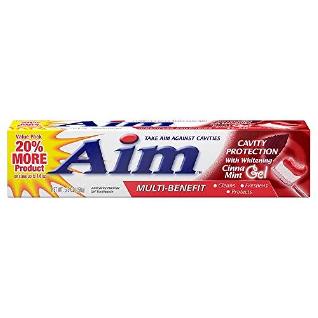 AIM キャビティ保護アンチキャビティの歯磨き粉、ミント、5.5オンスを目指します