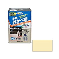 アサヒペン AP 水性外カベツヤ消し 14L クリーム色 ds-1828498
