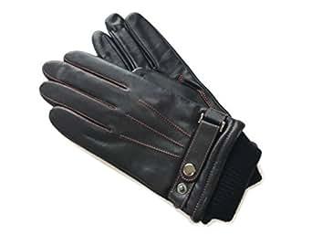 (クロダ) KURODAメンズグローブ ラム革 ベルト付手袋 ダークネイビー