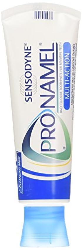 セグメント凍った準備SENSODYNE PRONAMEL 歯のエナメル質を強化するためのPronamel練り歯磨き、マルチアクション、クレンジングミント、4オンス