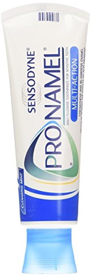 必要としているありそう夏SENSODYNE PRONAMEL 歯のエナメル質を強化するためのPronamel練り歯磨き、マルチアクション、クレンジングミント、4オンス