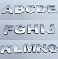 カースタイリング3Dメタル人格書簡数EmblemDIY車のステッカーバッジオートロゴアクセサリーオートバイステッカー:、D