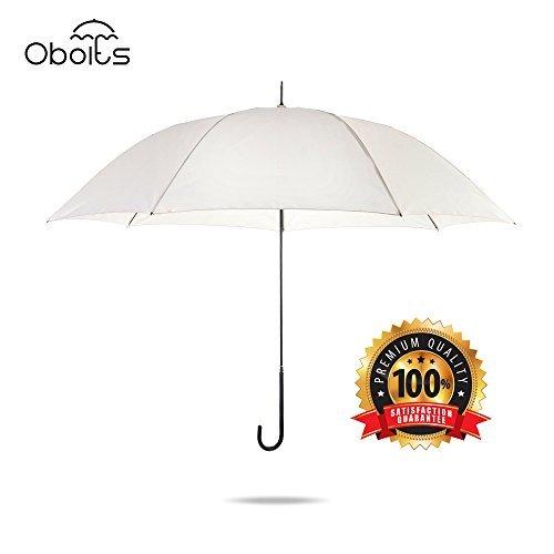 obolts軽量ホワイトJハンドルゴルフ傘