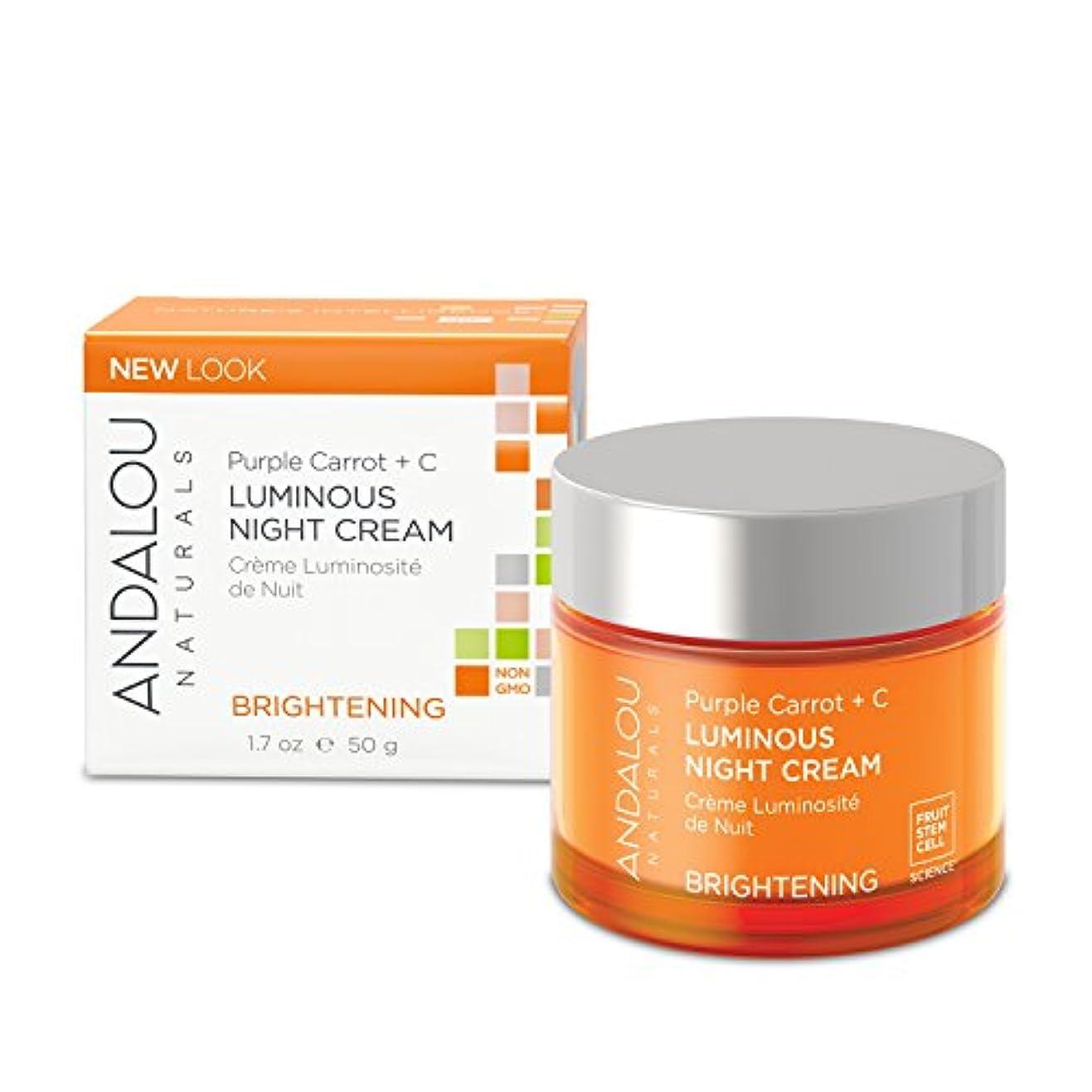 不器用柔和薄いですオーガニック ボタニカル クリーム ナイトクリーム 美容クリーム ナチュラル フルーツ幹細胞 「 PC+C ルミナスナイトクリーム 」 ANDALOU naturals アンダルー ナチュラルズ
