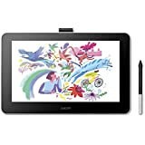 Wacom One Creative Pen Display, Australian Warranty, Free Software for On Screen Sketching and Drawing, 13.3 Inch, 1920 x 108