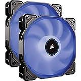 CORSAIR AF140 LED Low Noise Cooling Fan, Dual Pack - Blue, 140 mm