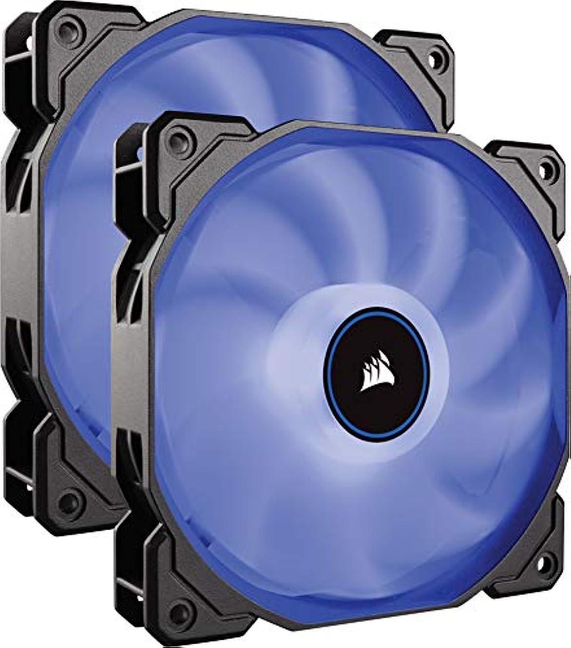 運搬事業スキームCorsair Air Series AF140 LED (2018) blue -Dual pack- PCケースファン 14cm FN1274 CO-9050090-WW