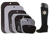1ペア厚みマルチサイズTall Short Boot Shaper高Long靴ツリーストレッチャーInserts膝太ももサポートスタンドホルダーハンガーKeeperのガールズメンズレディース 6 inch ブラック