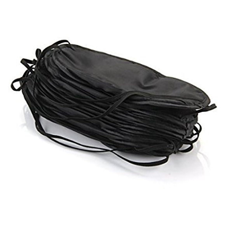 小道危機格差Bhbuy 10ピースアイマスクシェードカバー目隠し旅行睡眠補助カバー光ガイド リラックス ブラック