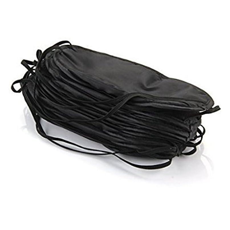 純正指紋バウンドBhbuy 10ピースアイマスクシェードカバー目隠し旅行睡眠補助カバー光ガイド リラックス ブラック