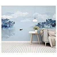 インク風景 - 壁画壁画壁掛け用粘着シールデカールオフィスホームデコレーション@ 250cm(W)x175cm(H)