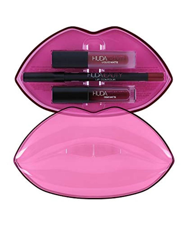 聖域不愉快にスワップHUDABEAUTY フーダビューティ リップ Demi Matte & Cream Lip Set Bawse & Famous