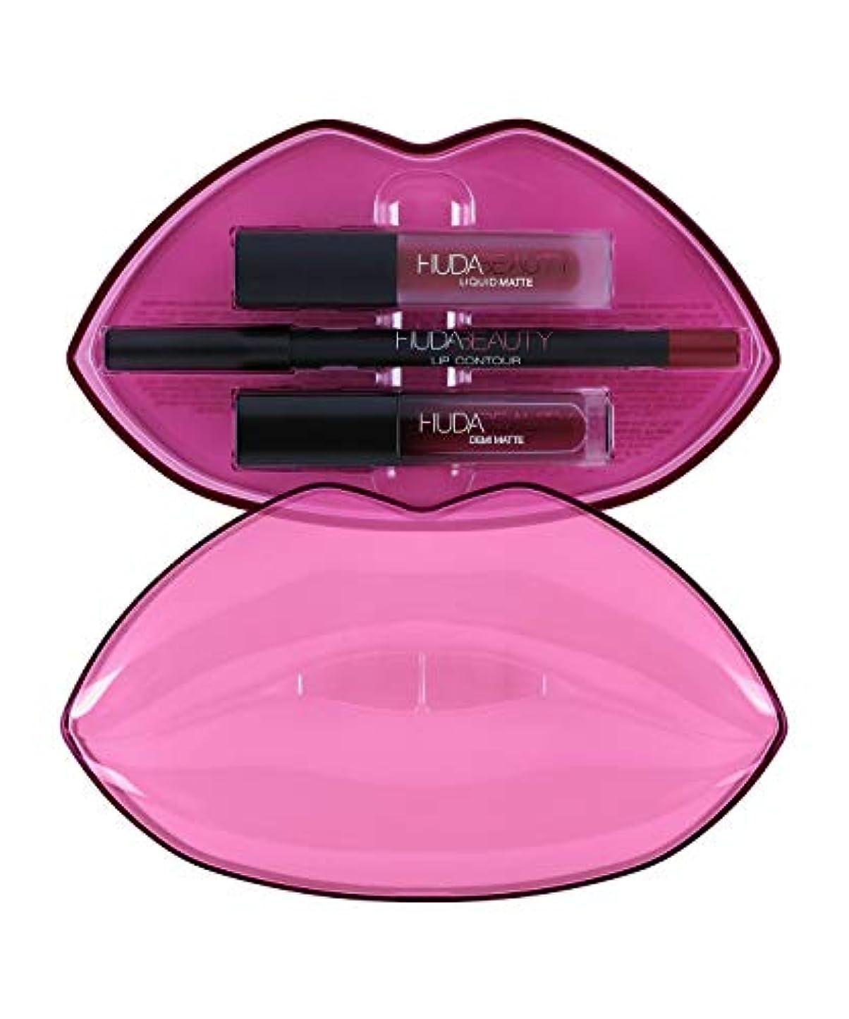 推定する生理現金HUDABEAUTY フーダビューティ リップ Demi Matte & Cream Lip Set Bawse & Famous