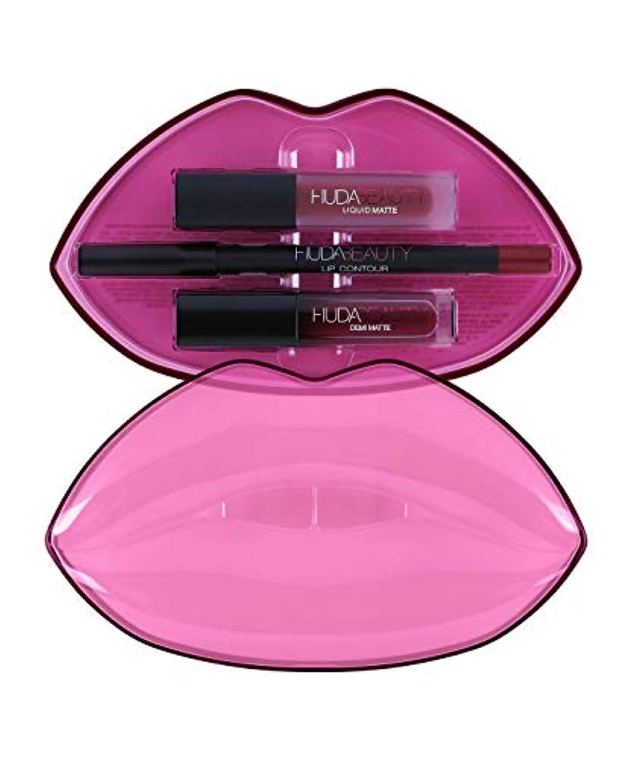 驚いたことに遠足セグメントHUDABEAUTY フーダビューティ リップ Demi Matte & Cream Lip Set Bawse & Famous