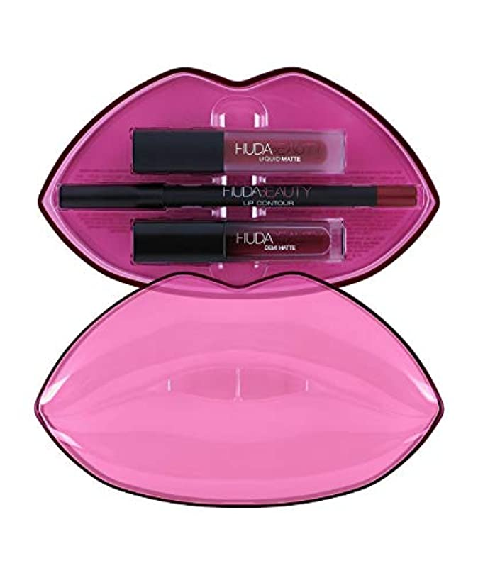 ねばねば北へボウルHUDABEAUTY フーダビューティ リップ Demi Matte & Cream Lip Set Bawse & Famous