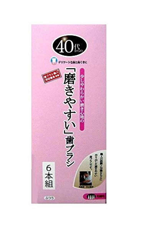 リア王資金安全性歯ブラシ職人 田辺重吉考案 40代からの磨きやすい歯ブラシ 先細 6本組