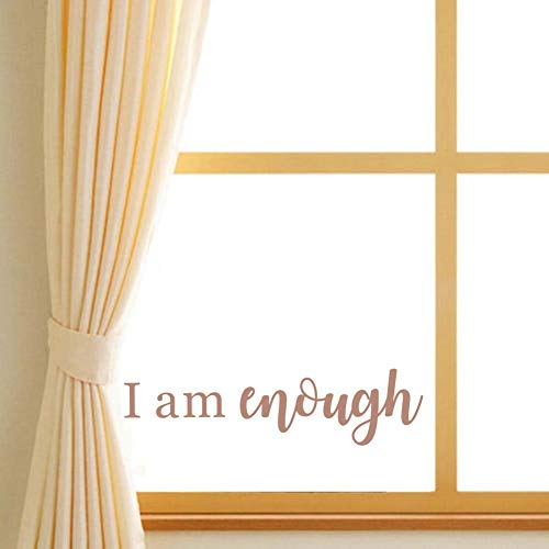 Motivational Lettering Wall Decal Home Decoration I Am Enough