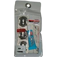 ◆携帯用パンク修理キット(TTO-331) の補修アンカーシールとセメントのセット<br><br> チップトップのパンク修理剤は穴を埋めるだけではありません。<br> アンカーシールと専用セメントにより、加硫(シールが溶けて、タイヤのゴムと一体化) 密着。<br> 安心と信頼の修理剤です。<br><br><セット内容><br>スーパーラジアルアンカーシール×3本、スペシャルセメントブルー4g×1本
