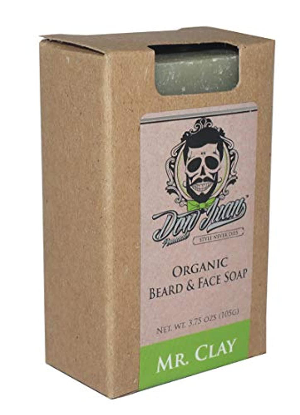 グリーンバック差し迫った特殊Don Juan Mr. Clay Organic Beard Face Soap Bar 3.75 Oz. by Don Juan