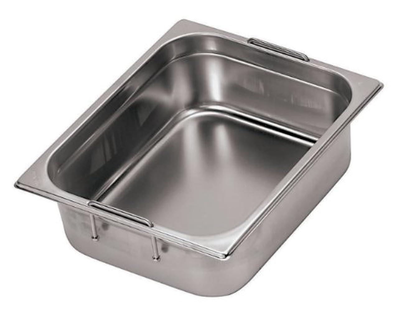 フラッシュのように素早く頭配るWorld-Cuisine 14159-20 17.8cm by 15.9cm Stainless-Steel Hotel Pan with Retractable