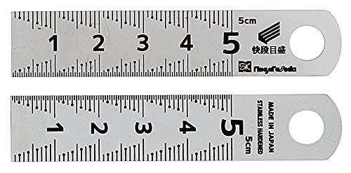 新潟精機 SK シルバースケール 快段目盛 SV-05KD 0-50mm 奥行0.05×高さ7.5×幅1.5cm