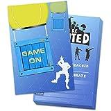 Yangmics Direct 30パック ゲームパーティー招待状 封筒付き ビデオゲーム招待状 子供 男の子 ビデオゲームパーティー用品