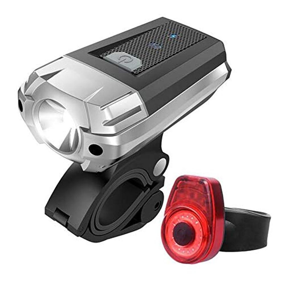 眠いです透過性延期するDragon Honor 自転車ライト USB充電式 LED 自転車ヘッドライト テールライト付き 高輝度 4点灯モード懐中電灯 多用途 アウトドア 夜間乗り キャンプ サイクリング用 防水 防災フロント用 自転車ライトセット