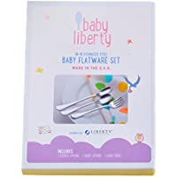 Baby Liberty 3 Piece Baby Flatware Set in Gift Box by Liberty Tabletop