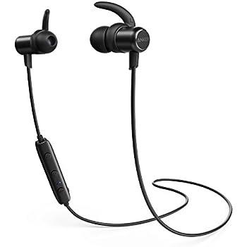 Anker SoundBuds Slim Bluetoothイヤホン(カナル型)【マグネット機能 / 防水規格IPX4 /内蔵マイク搭載】 iPhone、Android各種対応 (ブラック)