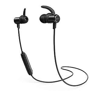 Anker SoundBuds Slim Bluetoothワイヤレスイヤホン(カナル型)【マグネット機能/防水規格IPX4/内蔵マイク搭載】 iPhone、Android各種対応 (ブラック)