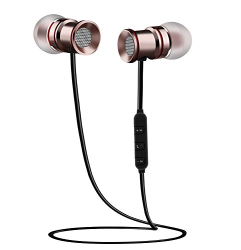 MEGICOT ワイヤレスイヤホン Bluetooth 4.1 マグネット内蔵 防汗 軽量 マイク内蔵 ハンズフリー通話 ステレオ 日本語説明書付き BTH-828