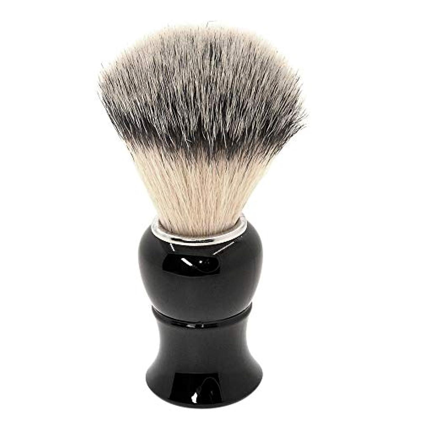 樹木グラス爆発物あごひげケア 美容ツール シェービング ブラシ 泡立ち アナグマ 毛 理容 洗顔 髭剃り マッサージ 効果