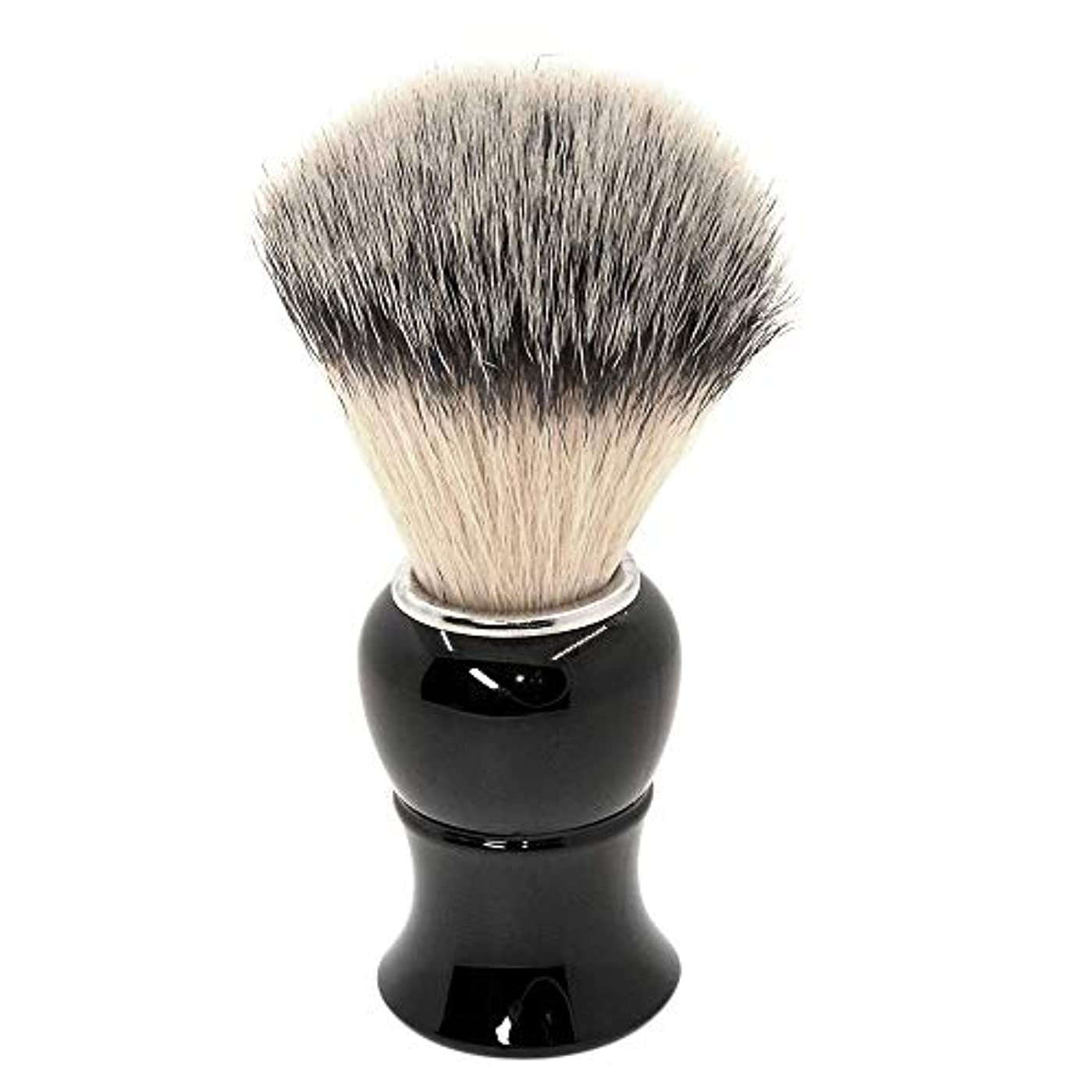 眉をひそめる期待して私たち自身あごひげケア 美容ツール シェービング ブラシ 泡立ち アナグマ 毛 理容 洗顔 髭剃り マッサージ 効果