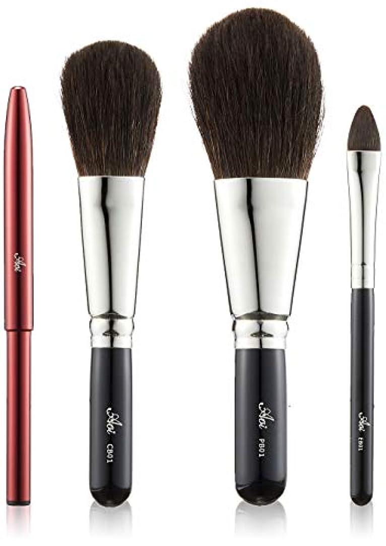 ショッキングごちそうドライ一休園 Aoi 熊野 化粧筆セット AS-20 10.7×21×4.6cm
