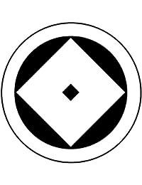家紋シール 張り紋 黒紋付用 nkp 日向紋 3.9cm 6枚組 丸に釘抜