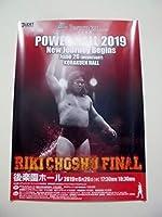 長州力 POWER HALL 2019 RIKI CHOSHU FINAL 後楽園ホール 引退試合 ポスター