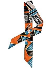 (ウォ2U)Woo2u ファッション レディース オフィススカーフ 巻きつけ カバン マフラー バンダナ ツイリー ネッカチーフ ヘッドドレス シュシュ リボン アクセサリー